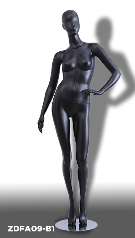 9a3cdc9f5341 ZDFA09-Β1 Μαύρη ματ κούκλα για καταστήματα ρούχων